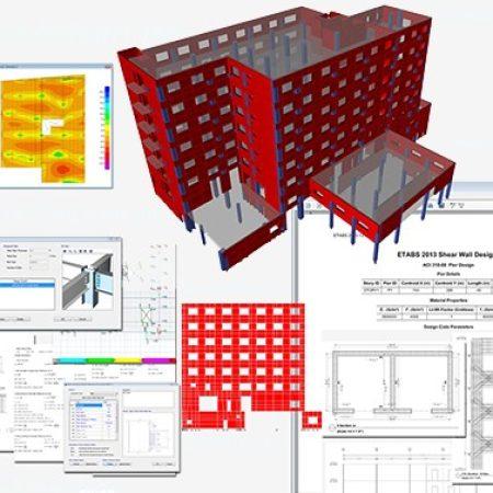 محاسب حرفه ای ساختمان بتنی و فلزی