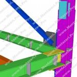 اتصال جوشی تیر به ستون با ورق روسری